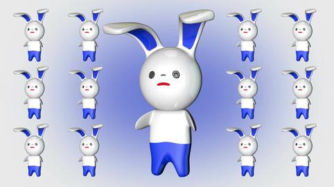 Kawaii Bunny Loop 4 Stock Video Footage