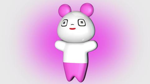 Kawaii Panda Loop 1 with Matte Stock Video Footage
