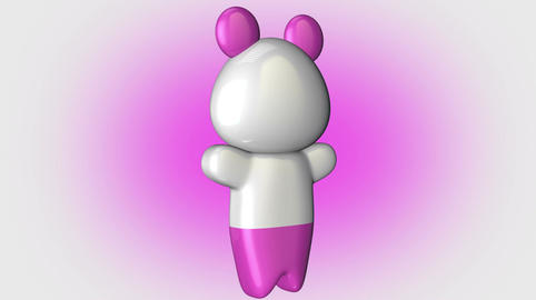 Kawaii Panda Loop 1 with Matte Animation