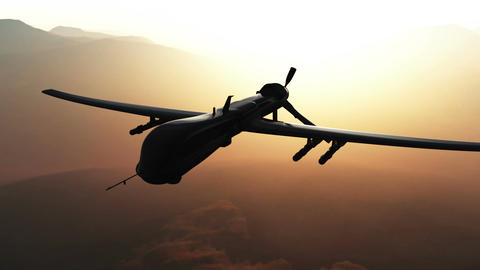 Predator Drone in Action Sunset Sunrise 1 Animation