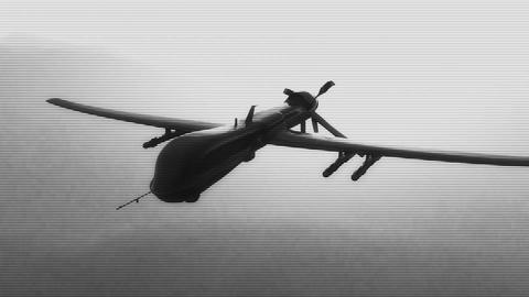 Predator Drone in Action Sunset Sunrise 3 Stock Video Footage