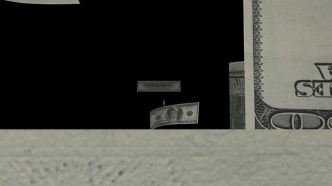 $100 Dollar Bills Flying Stock Video Footage