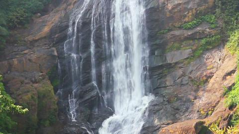 waterfall in Kerala state India Stock Video Footage