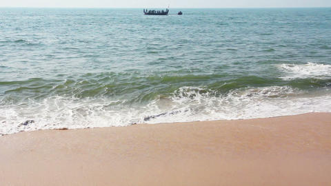 sea waves on sand beach Stock Video Footage