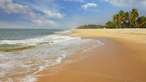 beautiful beach landscape - ocean in India Stock Video Footage