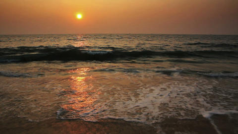 beauty landscape with sunset over sea Stock Video Footage