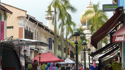 A busy street near Sultan Mosque, Singapore.(SINGA Footage