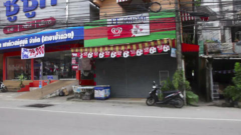 Streets of Phuket town Stock Video Footage