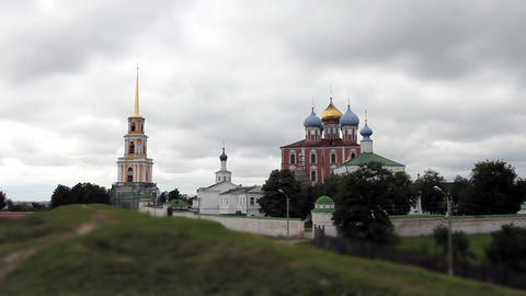 Ryazan Kremlin Stock Video Footage