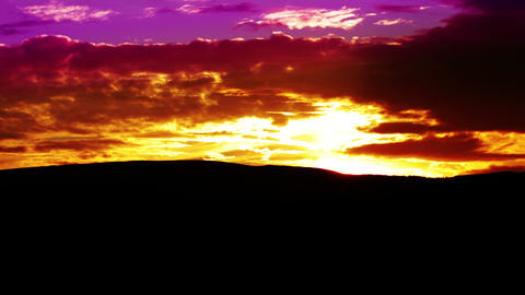 mountain landscape. sunset Stock Video Footage