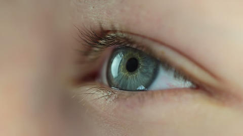 Human Eye. Close-up stock footage