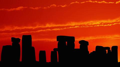 Stonehenge at Sunset Stock Video Footage