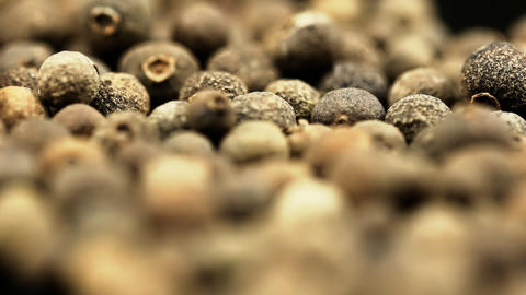 Black pepper spice HD macro footage Stock Video Footage