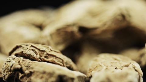 Food dry ginger root Stock Video Footage