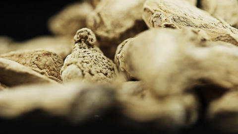 Food dry ginger root Footage