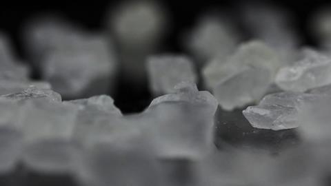 Food Sugar on black background Stock Video Footage