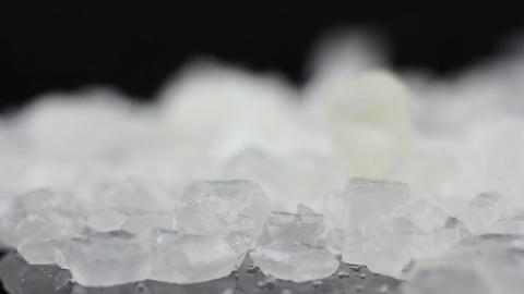 Food Sugar on black background Stock Video Footage