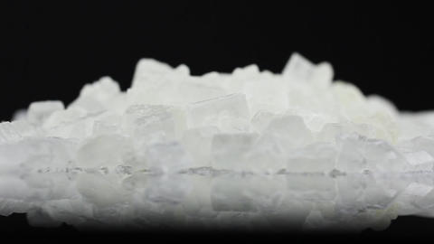 Food Sugar On Black Background stock footage