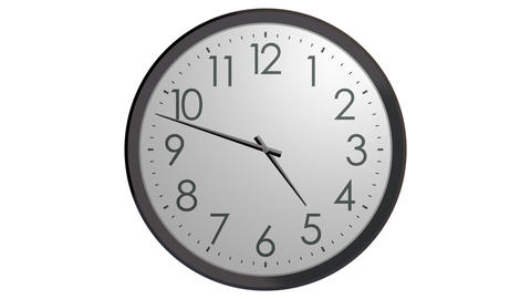 time running wall clock Stock Video Footage