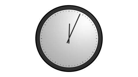 Animation White Clock stock footage