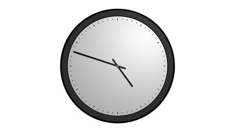 animation white clock Stock Video Footage