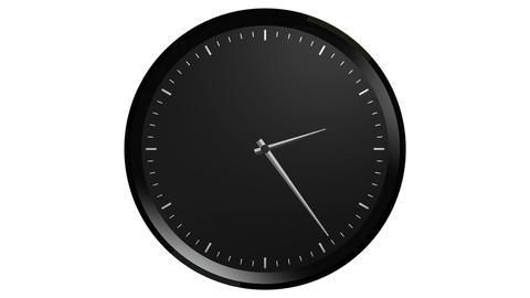 black clock timelapse Stock Video Footage