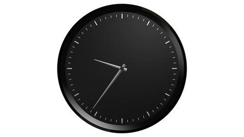 black clock timelapse Animation