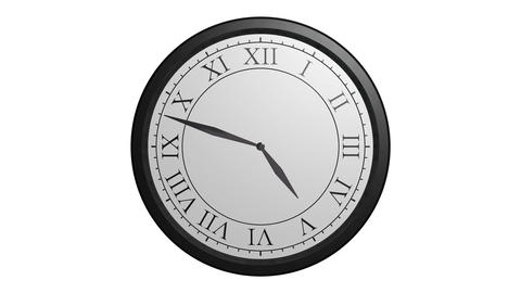 classic wall clock Stock Video Footage