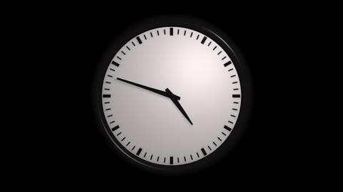 time lapse clock with alpha Stock Video Footage