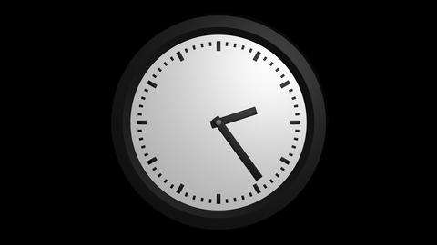 fast clock ticking with alpha Stock Video Footage