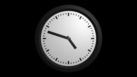 fast clock ticking with alpha Animation