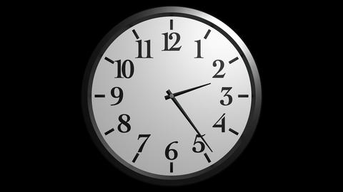 wall clock timelapse with alpha Stock Video Footage