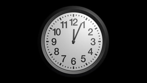 rotating clock ticker with alpha Stock Video Footage