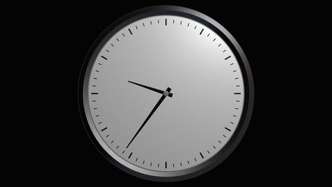 12 hours wall clock with alpha Animation