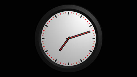 3D clock animation with alpha Animation