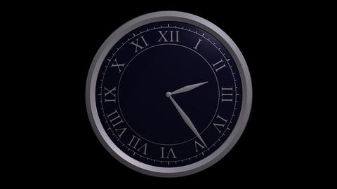 classic clock design with alpha Stock Video Footage