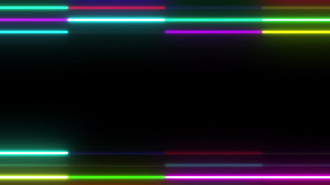 Neon tube W Ybf S S 1 HD Stock Video Footage