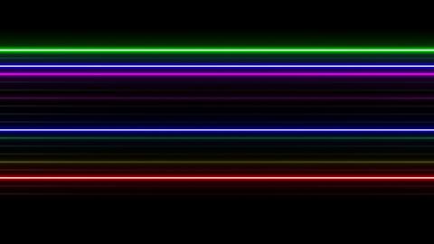 Neon tube W Ysf S L 1 HD 動画素材, ムービー映像素材