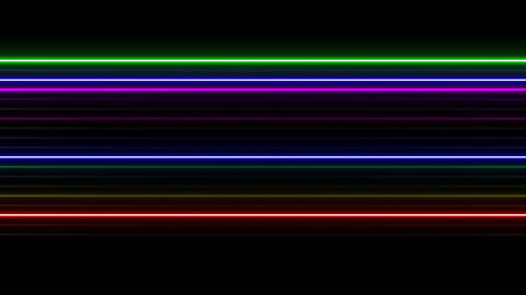 Neon tube W Ysf S L 1 HD Stock Video Footage