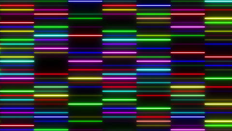 Neon tube W Ysm F S 1 HD Stock Video Footage