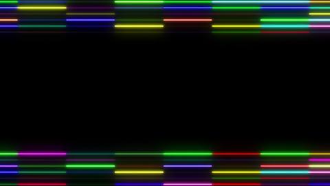 Neon tube W Ysm S S 1 HD Stock Video Footage