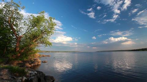 river landscape - timelapse Stock Video Footage