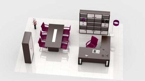 Office interior creation Animation