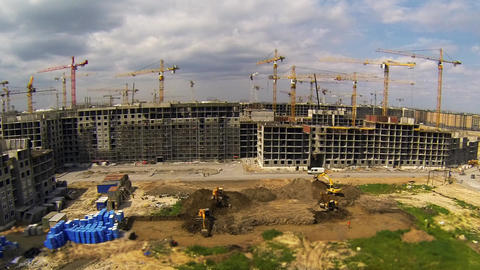 Construction Site Time Lapse stock footage
