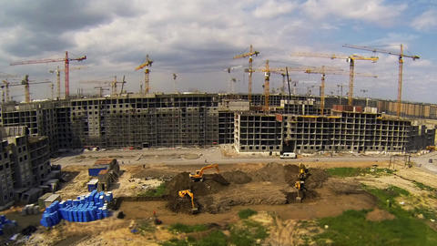 Construction Site Time Lapse Stock Video Footage