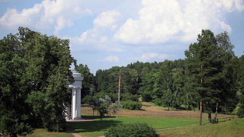 Landscape With A Rotunda stock footage