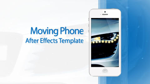 Moving Phone 15s Commercial (White Version) - After Effects Template After Effects Template