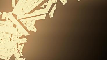 Abstract modern art flying matrix stick,cube box debris... Stock Video Footage