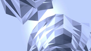 Abstract glass crystalline crystal,hard gemstones silicon debris background Animation