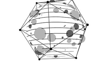 Abstract polyhedral wireframe... Stock Video Footage